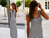 MAXI Dress in Sailor Stripes - UrBasicneeds