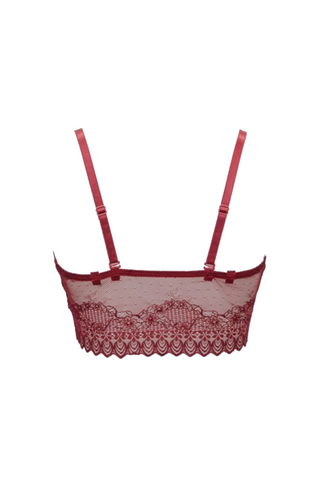Berry Red Top Crop Bralette - UrBasicneeds