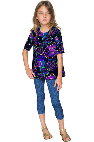Midnight Glow Sophia Purple Elbow Sleeve Party Top - UrBasicneeds