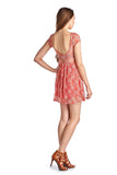 Women's Sleeveless Floral Lace Dress - UrBasicneeds