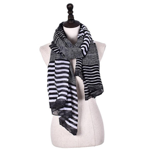 Long Print Cotton Scarf Wrap Shawl - UrBasicneeds