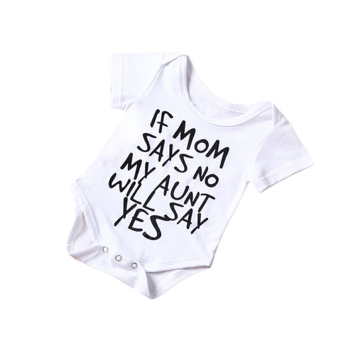 Newborn Letter Printed Romper Outfit- UrBasicneeds