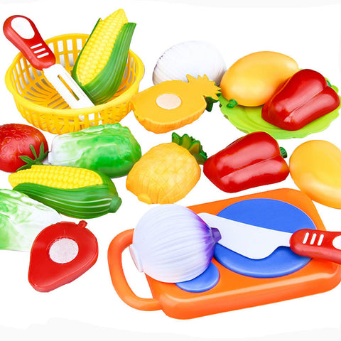12PC Cutting Fruit Vegetable Pretend Play Children Kid Educational Toy - UrBasicneeds