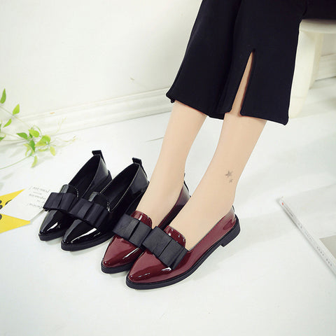 Women Pointed Toe Oxford Shoes