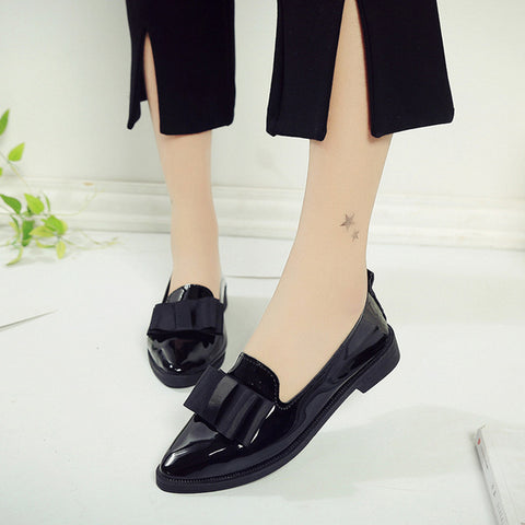 Women Pointed Toe Oxford Shoes - UrBasicneeds