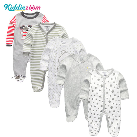 3/4/5Pcs/set Super Soft Cotton Baby Unisex Rompers - UrBasicneeds