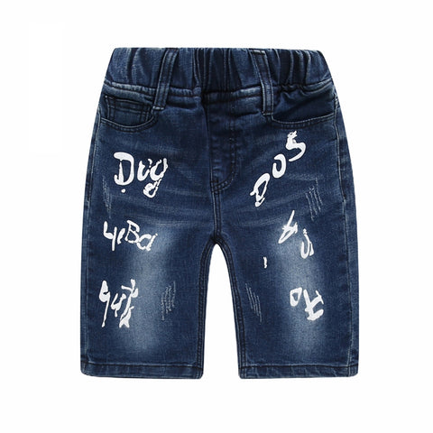 Fashion Boys Printed Denim Short Jeans - UrBasicneeds