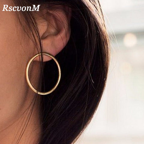 Simple Korean Fashion Hoop Earrings