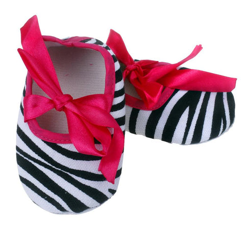 Bowknot Stripe Cloth Baby Shoes - UrBasicneeds