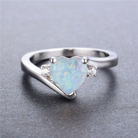 New Arrival White Fire Opal Ring