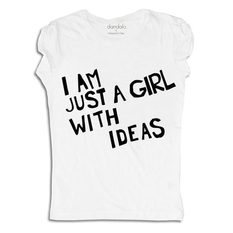 "T-Shirt / Tank Top ""I'm Just A Girl With Ideas"" - UrBasicneeds"