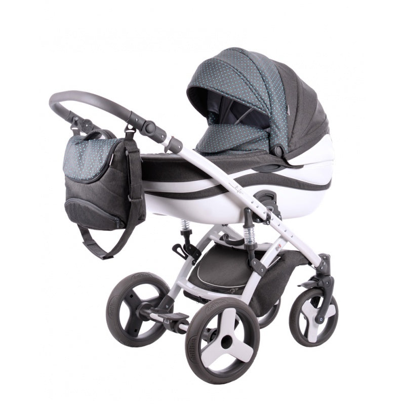 Moonlight Jacquard 2 in 1 Steel Frame Stroller - Kids Buggy