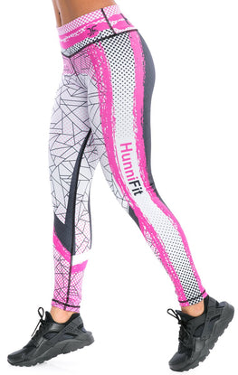 Inspire Pink Black Leggings