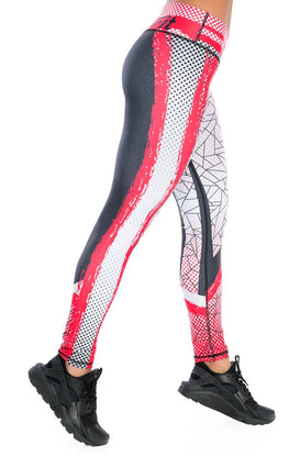 Inspire Red Black Leggings