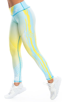 Phenom Yellow Blue Leggings