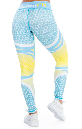 Radiance Blue Yellow Leggings