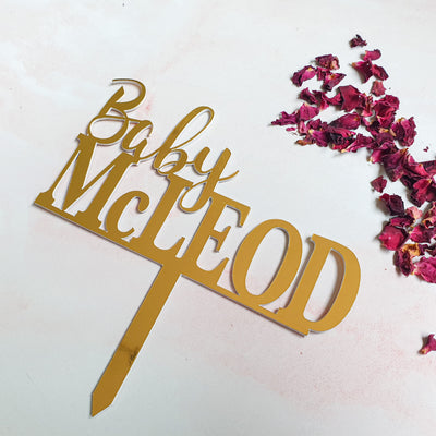 Custom Made Personalised Cake Toppers - Delight in Me Designs