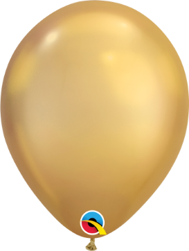 18cm chrome gold balloon