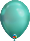 18cm chrome green balloon