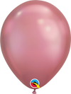 30cm chrome mauve balloon