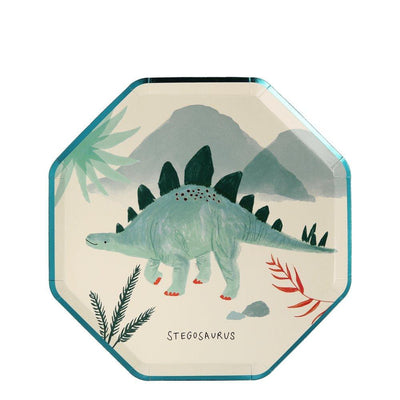 Dinosaur Kingdom Side Plates - Pack of 8 - Meri Meri