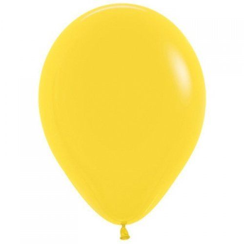 12cm yellow balloon