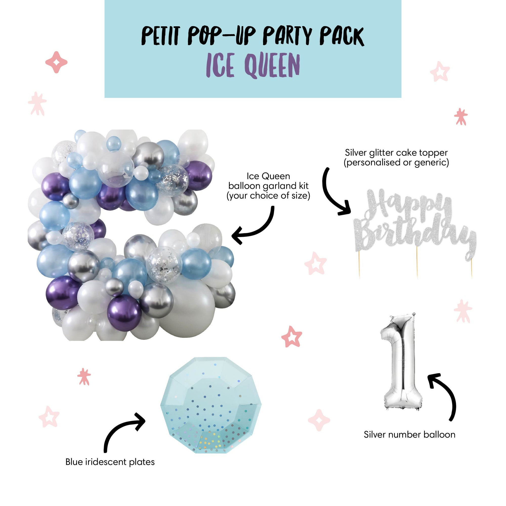 Petit Pop-Up Party Pack - Ice Queen
