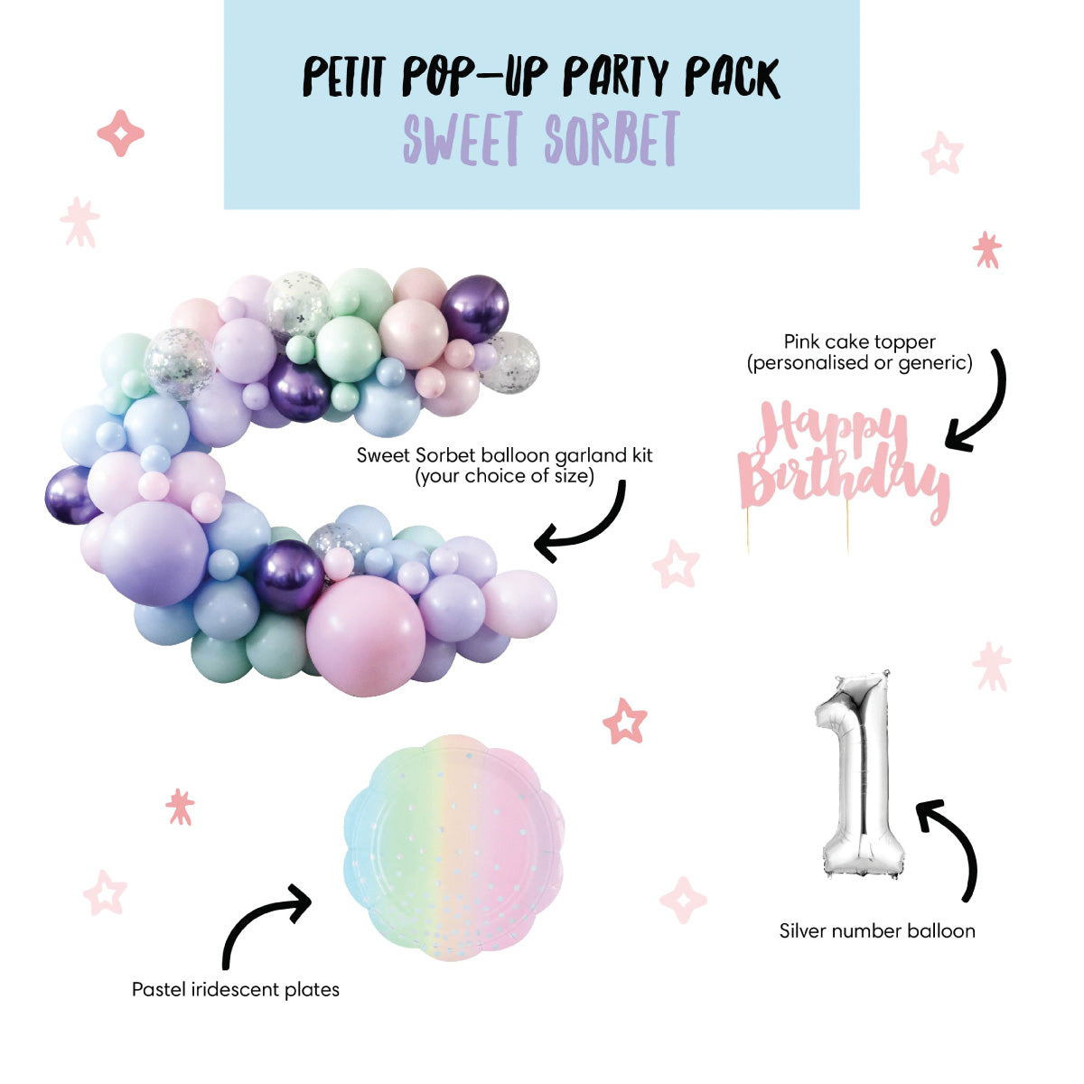 Petit Pop-Up Party Pack - Sweet Sorbet