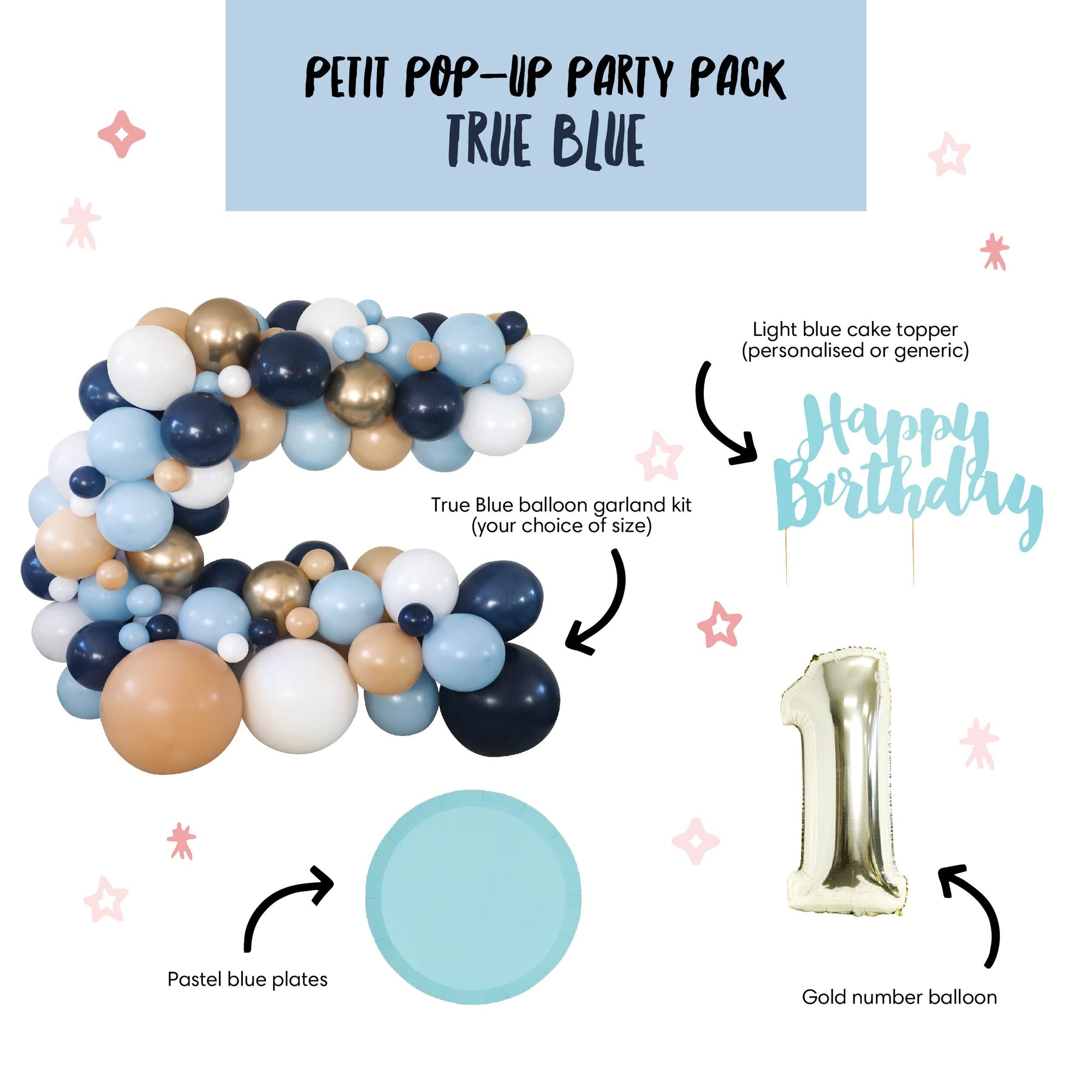 Petit Pop-Up Party Pack - True Blue