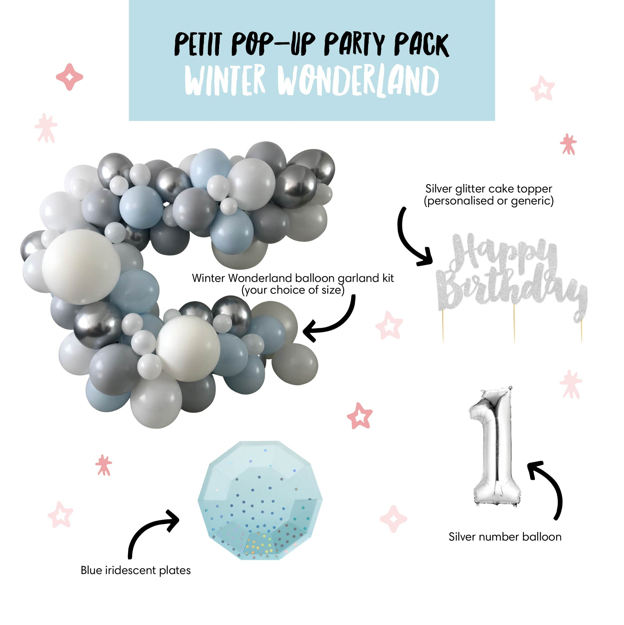 Petit Pop-Up Party Pack - Winter Wonderland