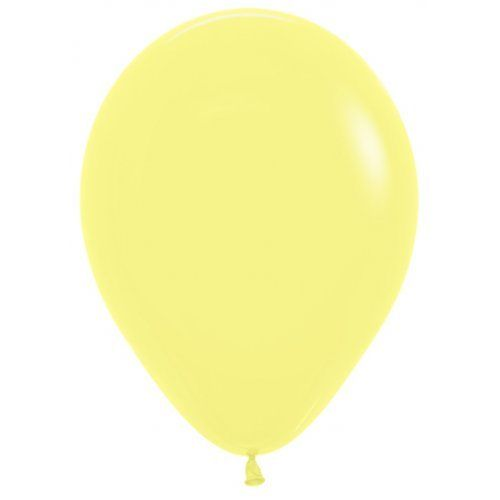 12cm pastel matte yellow balloon