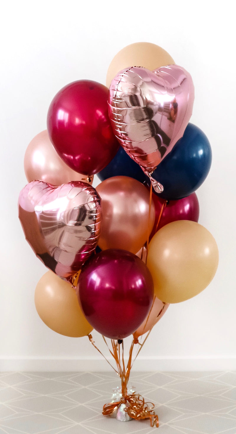 """Autumn Luxe"" Balloon Bunch"