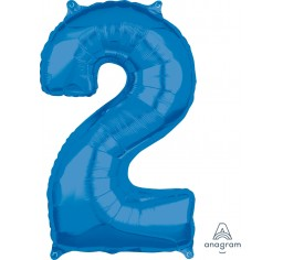 Blue Foil Number Balloon - Medium