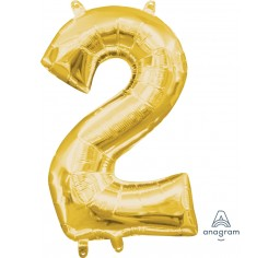Gold foil number balloon - small