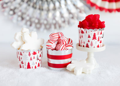 Silver Trees and Stripes Baking Cups - My Mind's Eye