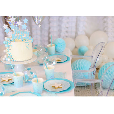 Blue Iridescent Dessert Plate - Pack of 10 - Illume Partyware