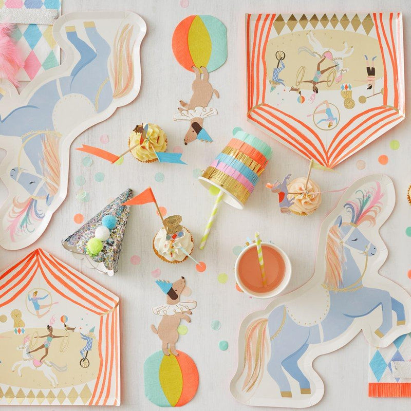 Circus Parade Plates - Pack of 8 - Meri Meri