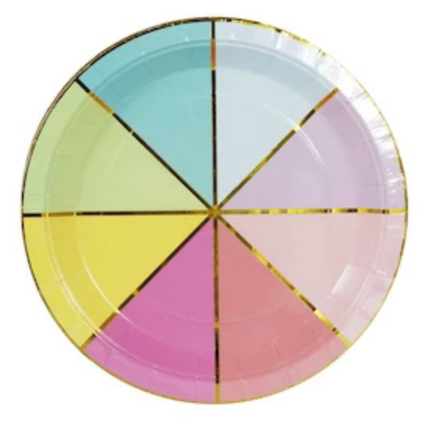 Colour Wheel Plates - Pack of 10 - We Love Sundays