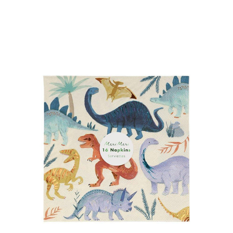 Dinosaur Kingdom Large Napkins - Pack of 16 - Meri Meri