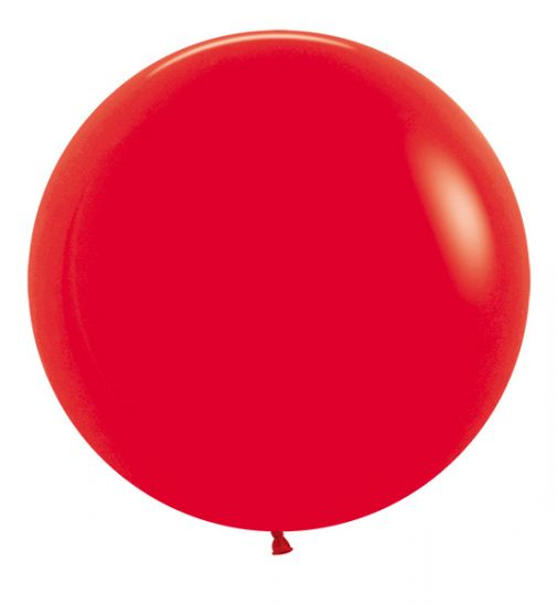 60cm large red individual balloon