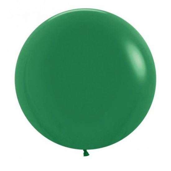 60cm large forest green individual balloon