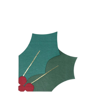 Holly Leaf Napkin - Pack of 16 - Meri Meri