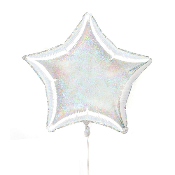 "Holographic 19"" Foil Star Balloon - Illume Partyware"