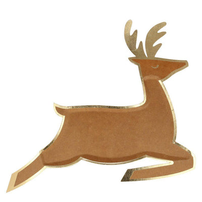 Leaping Reindeer Plate - Pack of 8 - Meri Meri