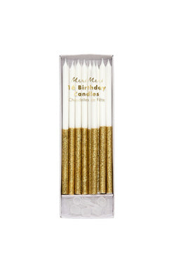 Gold Glitter Dip Candles - Meri Meri