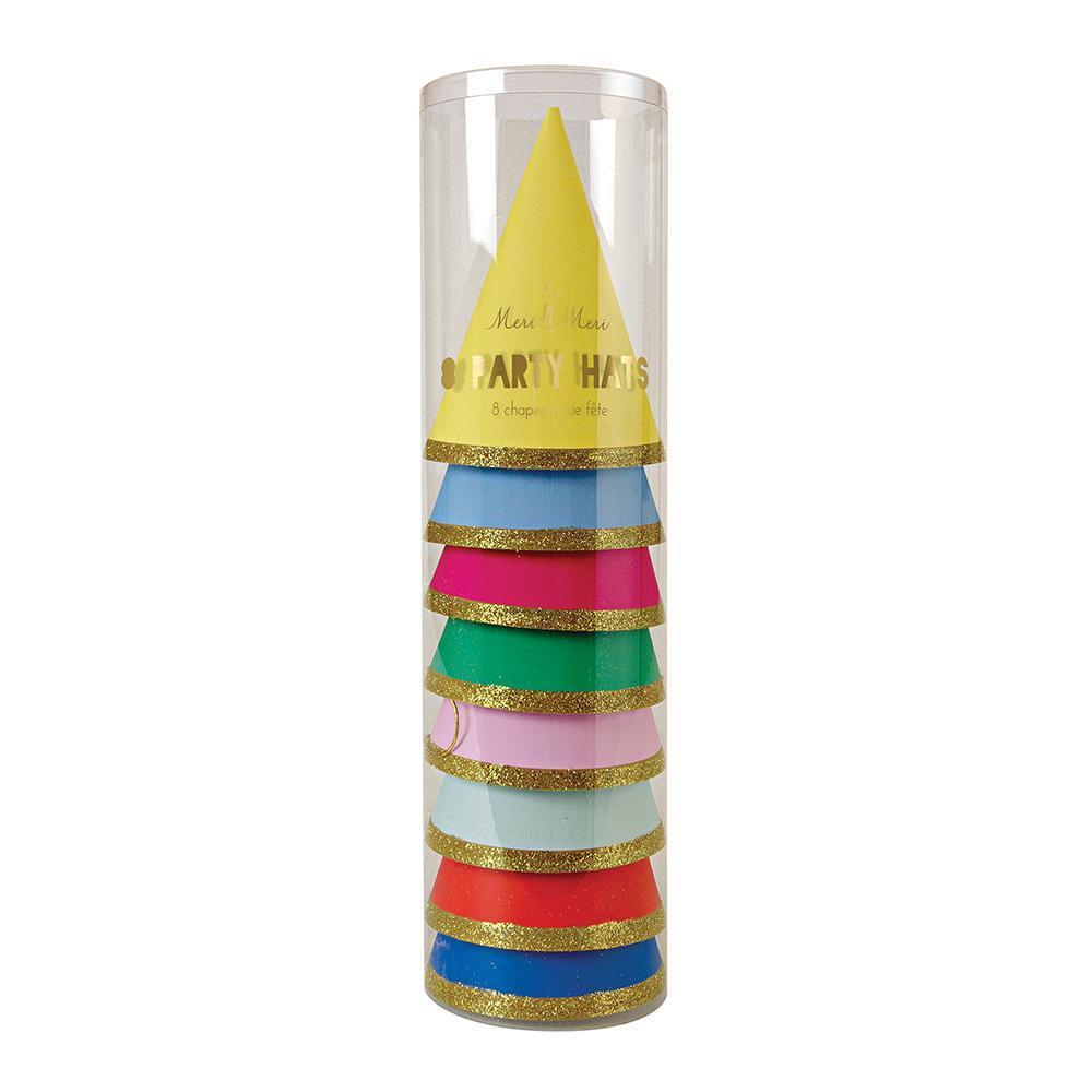 Happy Birthday Party Hats - Pack of 8 - Meri Meri