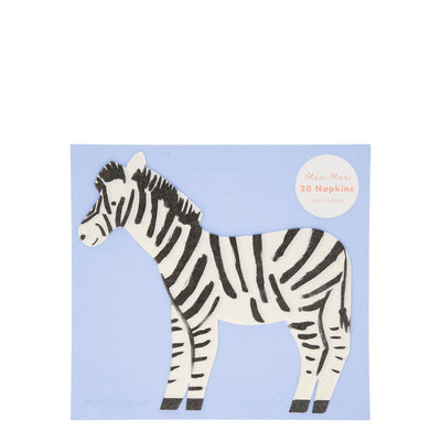 Safari Zebra Napkin - Pack of 20 - Meri Meri