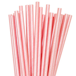 Pink Foil Paper Straws - Pack of 25 - Illume Partyware