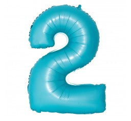 Pastel Blue Number Balloon - Jumbo