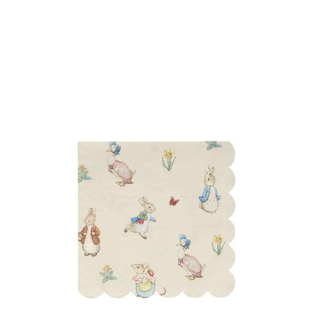 Peter Rabbit™ & Friends Small Napkins - Pack of 20 - Meri Meri
